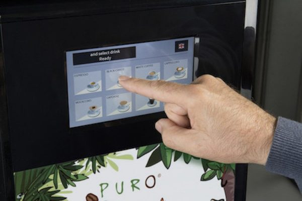 Puro Maestro Bianchi Vending machine with touch screen