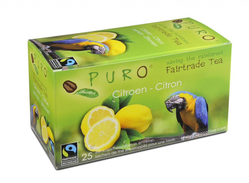 PURO fair trade citrus tea bags x 25