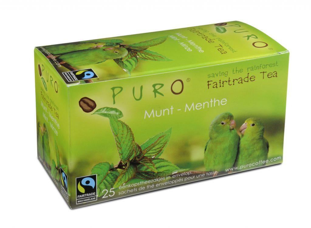 PURO fair trade mint teabags x 25